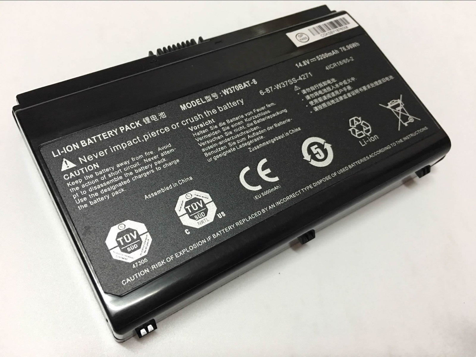 Clevo W350ET W355SS Schenker XMG A503 A522 A523 Gigabyte P2742 batteria compatibile
