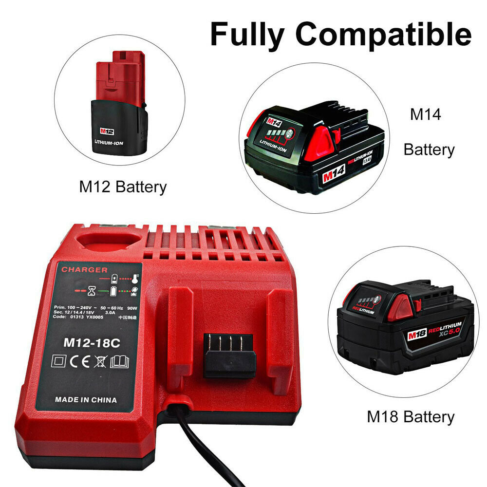 Battery Charger Milwaukee 18V 48-59-1807,48-59-1806,48-59-1840,2710-20